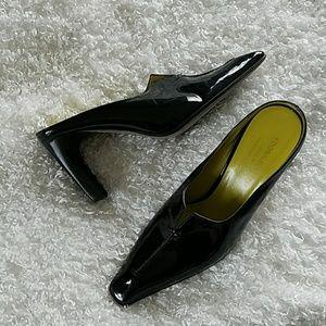 Donald J Pliner shiny heels size 8